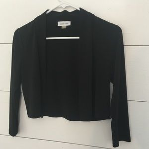 Calvin Klein Black 3/4 sleeve shrug sweater